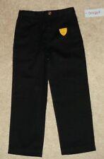 Cat & Jack Boys Black Pants School Uniform Size 5 New Adjustable Waist