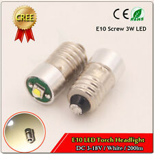 1X E10 3W CREE Led Flashlight Replacement Bulb Torch Lamp Light White 3V/4.5V/6V
