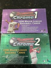 1998 BOWMAN CHROME SERIES 1 & 2 BASEBALL FACTORY SEALED HOBBY BOXES
