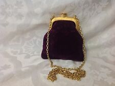 Beautiful Signed Clara Studio Asymmerty Cut Velvet In Deep Purple Evening Bag