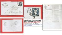 """Lettre 1855 Timbre France N°14 annulé """"Cachet noir de route -Paris-"""", cote: 70€"""