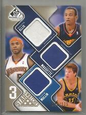 2009-10 SP Game Used Basketball Ellis-Maggette-Mullin 3 Star Swatches Card /125