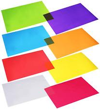 Outus Cellophane Wraps Cellophane Sheets Cello Sheets 11.8 by 8.5 Inch, 8 Colors