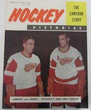 1957 Hockey Pictorial Red Wings Ted Lindsay and Gordie Howe 129485