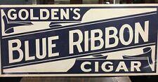Vintage GOLDEN's BLUE RIBBON Cigar sign, Tobacco