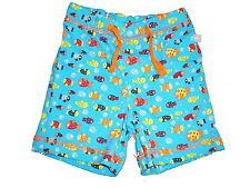 NEU Liegelind tolle kurze Hose / Shorts Gr. 92 blau mit vielen Fischmotiven !!