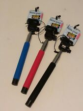 EXTENDABLE SELFIE STICK RED BLACK BLUE FREE SHIPPING