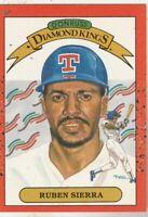 FREE SHIPPING-MINT-1990 Donruss  Rangers #3 Ruben Sierra DIAMOND KINGS