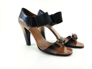 PRADA Ombre Patent Leather Sandals, Women's Shoes Size EU 38.5 / US 8.5