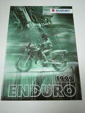 Prospectus Catalogue Brochure Moto Suzuki Enduro Gamme 1999 Suisse