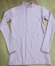 Under Armour Shirt Youth Large Fitted Cold Gear Pink