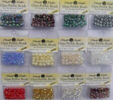 MILL HILL Glass Pebble Knitting Beads (Aran) Assorted Colours