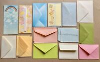 Vintage 1980s ENVELOPES LOT of 19 Multicolor Floral Rainbow Stationery LOVELY
