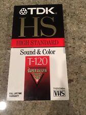Lot of 2 TDK HS Super Avilyn 6-Hour T-120 BLANK VHS TAPES Video Tape NEW Vintage