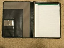 Johnston & Murphy Leather Portfolio Case, Comes with 1/2 Used Notepad