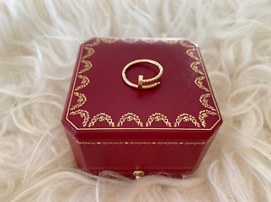 Juste Un Clou Yellow Gold Nail Narrow Small Ring 8