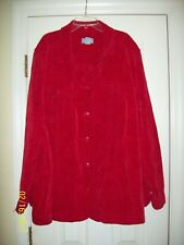 Liz & Me Red Heavy Weight Button-up Short Long Sleeve Size: 3X  - VERY NICE ~