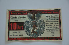 HIRSCHBERG SCHLESIEN NOTGELD 10 MARK 1918 EMERGENCY MONEY GERMANY BANKNOTE (6984