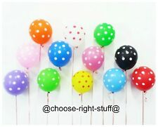 10 - 100 Polka Dot Latex Helium Spotty Balloon Party Birthday Occasions Quality