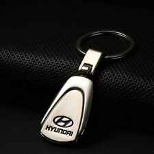 Hyundai Chrome Embossed Stainless Steel Car Key Ring Keyring Chain Alloy Zinc