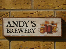 PERSONALISED HOME BREW SIGN OWN NAME SIGN REAL ALES BEERS LAGERS WINES & SPIRITS