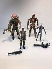 4 Terminator Action Figures-Carolco-Kenner-TAAC-Gold Terminator,Cyborg,T-700