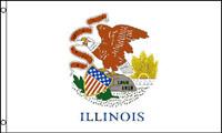 3x5 Illinois Flag 3'x5' House Banner grommets super polyester