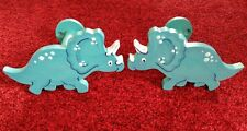 Hand painted wooden dinosaur curtain tiebacks/holdbacks children's bedroom decor