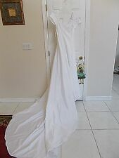 BRIDAL GOWN WEDDING DRESS WITH BEADS/LACE..SZ.14..Price Tag attached