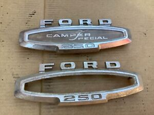 1973 - Ford  F250 camper special emblem set