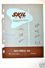SKIL OUTILS PORTATIFS version Francais Tool Catalog  #RR317 scie percuses