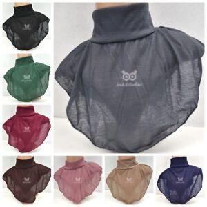 Neck Cover Modesty Islamic Underscarf Inner Hijab Scarf Bonnet Snood Ninja Plain