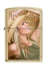 Zippo 3656 sexy cowgirl gold dust finish Lighter