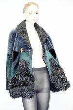 $9,000 Burberry Prorsum 10 12 44 Patchwork Shearling Jacket Coat Women Lady B
