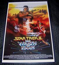 Star Trek II The Wrath of Khan 11X17 Movie Poster Shatner Nimoy Type 2