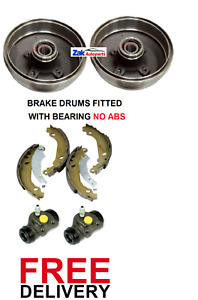 FOR VAUXHALL CORSA C 1.0 1.2 1.4 1.7 REAR BRAKE DRUMS SHOES CYLINDERS NO ABS
