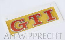 Original VW GTI Schriftzug Golf Polo chromglanz tornadorot Tuning Design Logo
