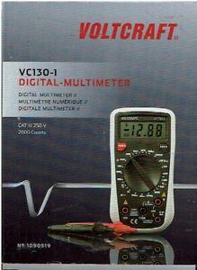 VOLTCRAFT VC130-1 Hand-Multimeter digital CAT III 250 V Anzeige : 2000 - D410