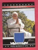 POPE BENEDICT XVI YANKEE STADIUM WALL RELIC CARD TOPPS HERITAGE AMERICAN MOMENTS