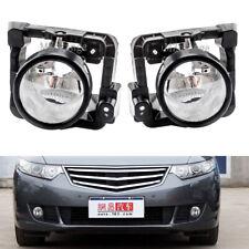 Pair Bumper Fog Lights Clear Lens For Honda Acura TSX 2009-2010 Driving Lamp