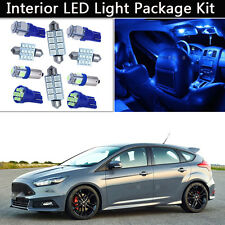 6PCS Bulbs Blue LED Interior Car Lights Package kit Fit 2012-2014 Ford Focus J1