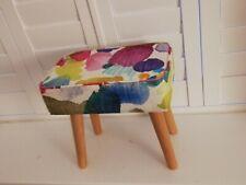 Funky Footstool Mini in Bluebellgray Portree Fabric