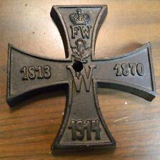 Vintage WWI German Iron Cross 1813 / 1870 / 1914 Paperweight (Crown FW, W) Excel