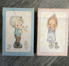 """Vintage Hallmark """"Betsy"""" Betsey Clark Mini Playing Cards 2-packages"""