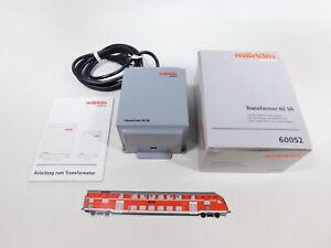 CU123-2# Märklin H0/AC 60052 Transformer, without Plug, 230 V/60 VA, Box