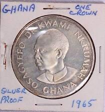 GHANA Silver Crown 1965 OAU African States Summit 1st President Kwame Nkrumah