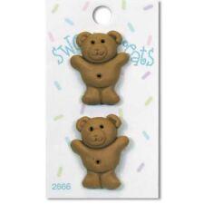 Teddy Bear Cookie Sweet Treat  Buttons/Novelty Buttons/DIY Craft Buttons