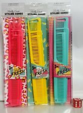 Cricket Totally Fresh Styling Combs (4 Combs ) choose your color