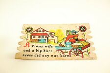 Vintage Oversized Postcard Novelty Penn Dutch Postal Plak 9 x 5 #PO3