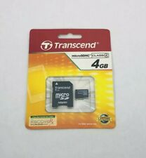 Transcend 4GB Micro SD SDHC Memory Card + Adapter for Tablet MP3 Camera Class 4